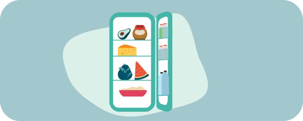 Einkäufe im Kühlschrank